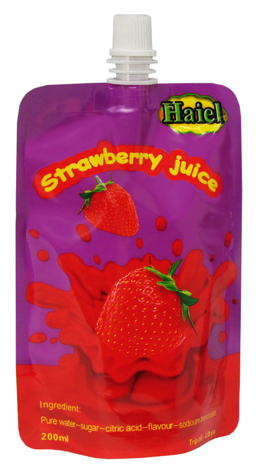 0 Haiel Strawberry Juice, stand up with spout